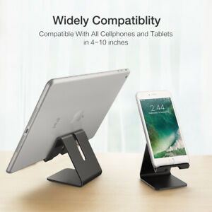 Universal Aluminum Desk Desktop Phone Stand Holder For iPhone Tablet Cellphone