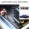 Car Sticker Carbon Fiber Rubber DIY Door Sill Protector Edge Guard Strip - UK