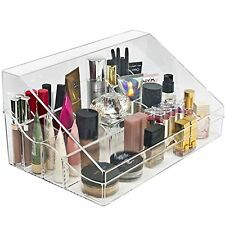Sorbus Makeup Organizer Case (Style 1 - Slanted Lid Sectional Top)