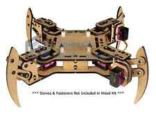 mePed v2 Quadruped Walking Arduino Robot - Wood Kit