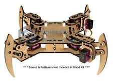 mePed v2 Quadruped Walking Arduino Robot - Wood Kit