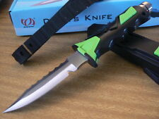 Scuba Diving Camping Hunting Fishing Stainless High Quality Dive Knife-AU Green