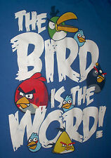 """The Bird is the word"" angry birds t-shirt Size: XL Color: Blue Free Shipping!!!"