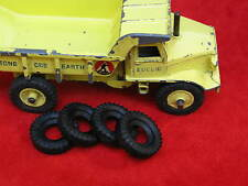 Large Treaded Tires for Dinky Euclid Dumper, 27mm Outside, 11mm inside, Lot of 4
