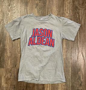 Jason Aldean shirt Concert shirt Band Tee Wrigley Field Chicago Gray Crew Neck S