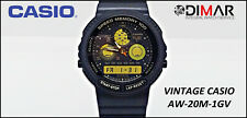 Vintage Casio AW-20M-1GV QW.384. Japan - AÑO.1989. High Tech Combination. WR.50m