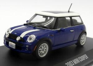 Greenlight 1/43 Scale Diecast 86546 Italian Job 2003 Mini Cooper Blue