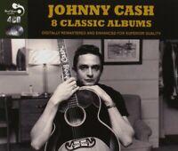 JOHNNY CASH - 8 CLASSIC ALBUMS 4 CD NEW
