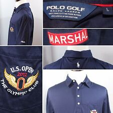 Rare Ralph Lauren Polo Golf Shirt L 2012 US Open Olympic Club Marshal White Pony