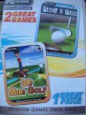 2 GAME PACK---1--PITCH N PUTT---2--3D MINI GOLF---PC CD---FREE POSTAGE TO UK