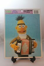 1986 SESAME STREET FRAME TRAY PUZZLE BERT PLAYS ACCORDIAN GOLDEN JIM HENSON 12PC