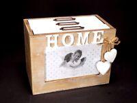 Vintage HOME Style 61 Photo Box Album Case Frame Wooden Shabby Chic Design 2