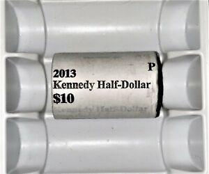 2013 P Kennedy Half Dollar BU 20-Coin Roll Set US Mint Wrapped
