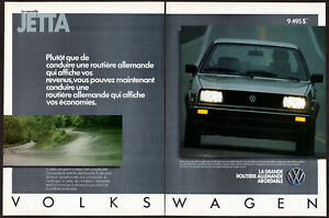 1985 VOLKSWAGEN Jetta Vintage Original 2-pages Print AD Gray photo French Canada