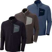 """$70 New Mens Columbia """"Scale Up"""" Half Zip Omni-Wick Fleece Sweaters Pullover"""