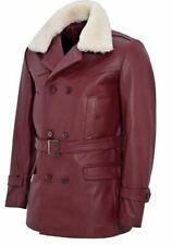 Women Leather Jacket Aviator Black Real B3 Hooded Fur Shearling Bomber