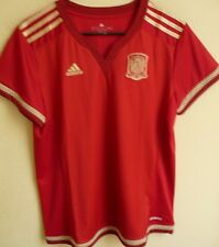Women's Adidas Spain 2015 World Cup Home Soccer Jersey L NEW