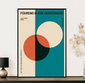 Bauhaus Print, Modern Abstract Poster, Vintage Art Print, Wall Art Decor Print