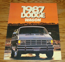 Original 1987 Dodge Ram Wagon Deluxe Sales Brochure 87