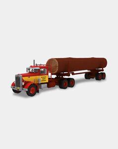 TRU03 PETERBILT 281 WOOD TRUCK NEW 1:43 18,5cm+27cm AMERICAN TRUCK