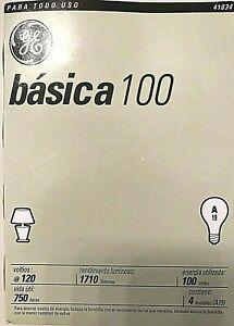 GE 41034 100-Watt Basic Light Bulb 8 Bulbs