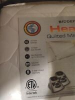 NEW Biddeford KING Size Electric Heated Mattress Bed Pad White QUILTED 2 Control