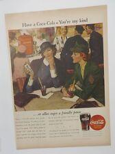 Original Print Ad 1944 COCA-COLA Coke WAC Army You're My Kind