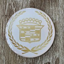 White Cadillac Wire Wheel Chips Emblems Decals Set Of 4 Size 275in