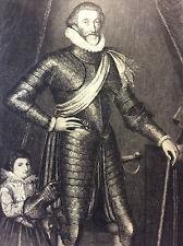 François de Bonne de Lesdiguières Protestant Grenoble gravure tirée parchemin