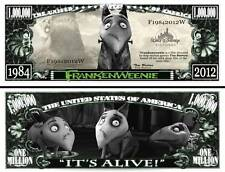 Frankenweenie Million Dollar Bill **Novelty Money** FREE Sleeve