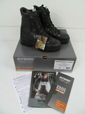 More details for altberg peacekeeper® p3 police high leg safety steel toe cap riot boots uk4 k2