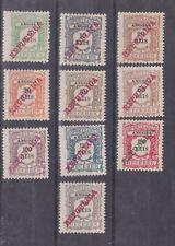angola 1921 Sc J21/30 p.due stamps,set       q1633