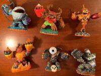 Wii skylanders giants 6 figures bundle eyebrawl thumpback tree Rex crusher