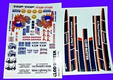 CLOD BUSTER CUSTOM TAMIYA HPI LOSI 1/10th PLUS EXTRAS STICKERS DECALS
