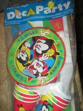1994 Warner Bros Animaniacs Deca Party for 8 Plates Napkins Table Cloth Sealed