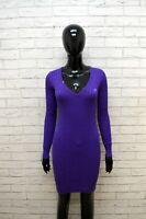 SUN68 Donna S Vestito Cashmere Abito Slim Tubino Maglia Casacca Dress Women