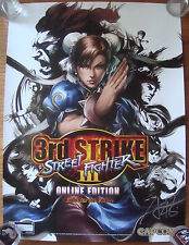 ARTGERM SDCC 2011 STREET FIGHTER 3rd Strike Online Capcom Poster signed RARE