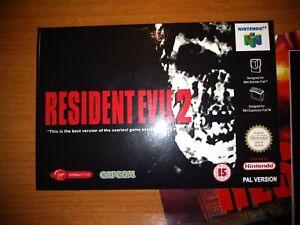 Resident Evil 2 PAL NINTENDO 64 - GAME