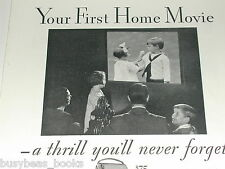 1931 KODAK advertisement, Kodak movie camera, Cine-Kodak 8mm home movie show