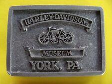 Harley Davidson Museum Belt Buckle  York PA  Vintage Used
