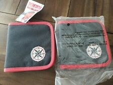 MARLBORO UNLIMITED CD CASE/HOLDER,EMBROIDERED COMPASS LOGO,BRAND NEW,BLK/RED,'97