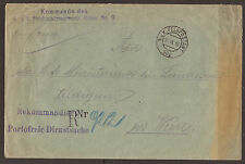 AUSTRIA / SERBIA.  FELDPOST. WW1. 1916. FPO 302. REGISTERED OFFICIAL COVER. HQ K