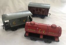 'O' Gauge 1940's Chad Valley Model Train Rolling Stock. Runs on 'O' Gauge Rail.