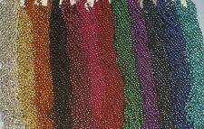 """12 Mardi Gras Beads Necklaces Party Favors 1 Dozen Lot 7mm 33"""""""