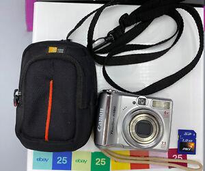 Canon PowerShot A560 Digital Camera 7.1 Megapixels 4x Optical Zoom, Case, SD