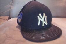 VTG style New York Yankees New Era 7 hat cap black American League side patch AL