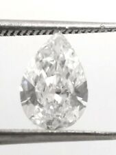SOLITAIRE LOOSE PEAR Shaped NATURAL DIAMOND TCW 0.52 D SI1 GIA engagement bridal