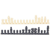 Chess Pieces Plastic Complete Chessmen International Chess Game EntertainmeJBSMW