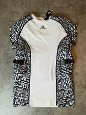 New Adidas Techfit Men's 5-Pad Football Integrated Shirt W/Print/White Size L