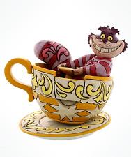 Disney Cheshire Cat in Teacup Figurine by Jim Shore NIB